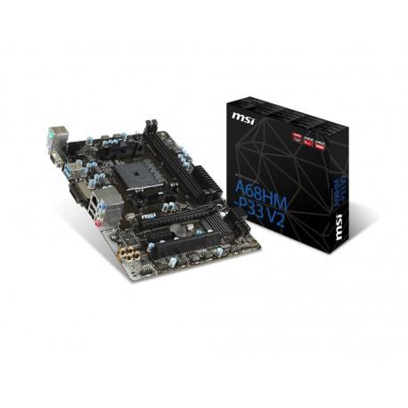 MSI MB MSI AMD A68HM-P33 FM2 FM2 DDR3 V2 A68HM-P33 V2