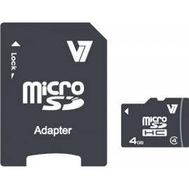 V7 Micro tarjeta de 4 GB SDHC Clase 4   adaptador VAMSDH4GCL4R-2E