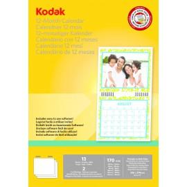 Kodak Calendario para impresora de tinta. incluye 13 hojas, sofware y nudillo 5740-016