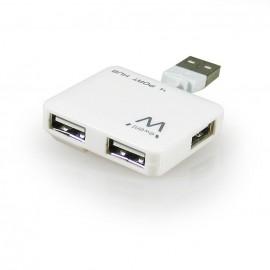 EMINENT-EWENT EW1125 Hub Mini 4 Puertos USB2 Blanc