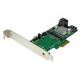 StarTech.com Tarjeta Controladora de 3 Puertos SATA III RAID 6Gbps PCI Express con Ranura mSATA - HyperDuo PEXMSATA343