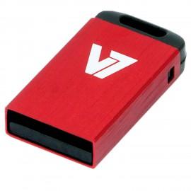 V7 Unidad de memoria flash USB 2.0 nano 4 GB, roja VU24GCR-RED-2E