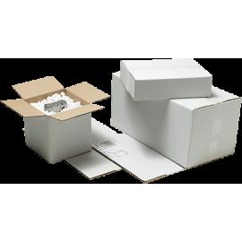Caja Embalaje 330X250X80 4 solapas Blanca 033258