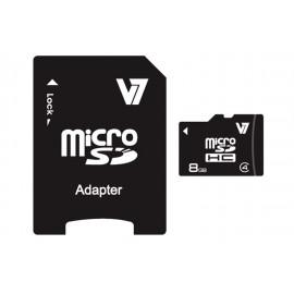 V7 Micro SDHC 8 GB Clase 4 + adaptador SD VAMSDH8GCL4R-2E