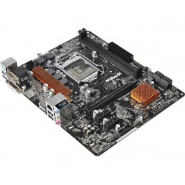 Asrock H110M-HDV Intel H110 LGA1151 Micro ATX 90-MXGZU0-A0UAYZ
