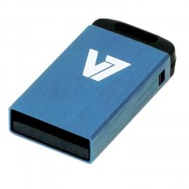 V7 Unidad de memoria flash USB 2.0 nano 4 GB, azul VU24GCR-BLU-2E