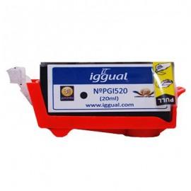 iggual Cartucho Reciclado Canon PGI520 Negro PSIPGI520
