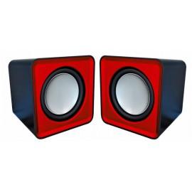 Omega Compact Stereo Speaker Red 6W Negro, Rojo OG01R