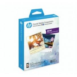 HP Social Media Snapshots Removable Sticky Photo Paper-25 sht/10 x 13 cm Semi-brillo Color blanco W2G60A