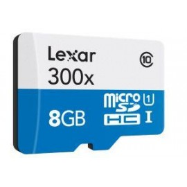 TARJETA MEMORIA LEXAR MICRO SECURE DIGITAL 8GB SDHC  SDXC ALTO RENDIMIENTO 300X CLASE 10 UHS-I  LSDMI8GBBBEU300