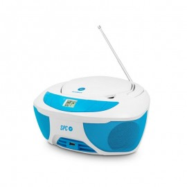 SPC INTERNET BOOMBOX - USB - MP3 -RADIO - JACK 3.5MM - AZUL BLANCO 4500A
