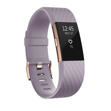 Fitbit Charge 2 Wristband activity tracker OLED Inalámbrico Oro, Lavanda