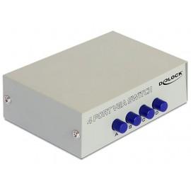 DELOCK Conmutador VGA de 4 Puertos 87635
