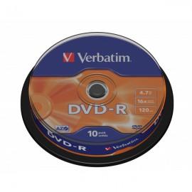 Verbatim DVD-R Matt Silver 10 Unidades