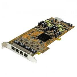 StarTech.com Tarjeta PCI Express de Red Ethernet Gigabit con 4 Puertos RJ45 PoE Power over Ethernet ST4000PEXPSE