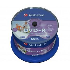 Verbatim DVD R Wide Inkjet Printable No ID Brand 43512