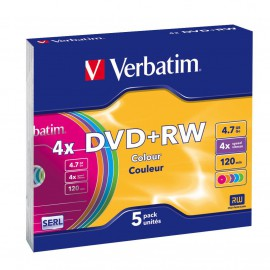 Verbatim DVD RW Colours 43297