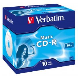 Verbatim CD -R AUDIO 700MB 12X JEWEL VERBATIM CASE 10 43365