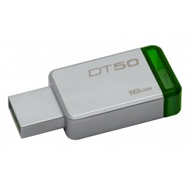 Kingston Technology DataTraveler 50 16GB 16GB USB 3.0 (3.1 Gen 1) Type-A Verde, Plata unidad flash USB DT50/16GB