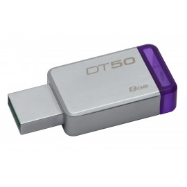 Kingston Technology DataTraveler 50 8GB 8GB USB 3.0 (3.1 Gen 1) Type-A Purpura, Plata unidad flash USB DT50/8GB