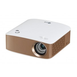LG PH150G 130lúmenes ANSI LCOS 720p (1280x720) Portable projector Oro, Color blanco PH150G