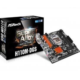 Asrock H110M-DGS Intel H110 LGA1151 Micro ATX 90-MXB0S0-A0UAYZ