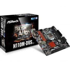 Asrock H110M-DVS R3.0 Intel H110 LGA1151 Micro ATX 90-MXB4A0-A0UAYZ