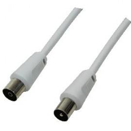 LogiLink CA1060 1.5m Coaxial Plug Coaxial jack Color blanco