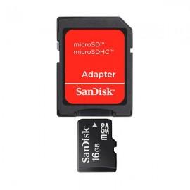 Sandisk microSD Card 16GB + Adaptador