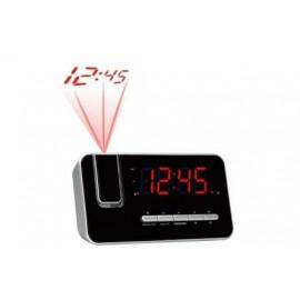 Denver CRP-618 Reloj Digital Negro, Plata