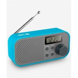 SPC Frosty Radio Portátil Negro, Azul 4570A