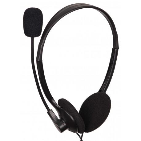 GEMBIRD Auricular Est. C Microfono y regulador de volumen negro MHS-123