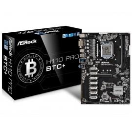 Asrock H110 Pro BTC+ Intel H110 LGA 1151 (Socket H4) ATX placa base 90-MXB5S0-A0UAYZ
