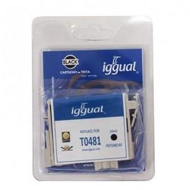 IGGUAL Cartucho Reciclado Epson T0481 Negro PSIT048140