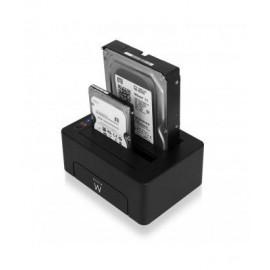 Ewent EW7014 Dock Station Dual 2.5-3.5 USB 3.1