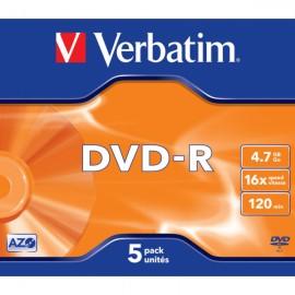 Verbatim DVD-R 4.7GB 16X 5 Unidades