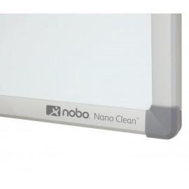 NOBO Pizarra blanca Nano Clean magn?tica de acero 1800x1200 mm con marco de aluminio 1905171