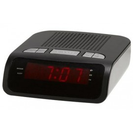 Denver CR-419MK2 Reloj Digital Negro, Plata radio CR-419MK2