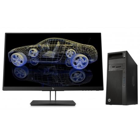 HP Z440 MT + Z23n G2 3.5GHz E5-1620V4 Mini Tower Negro Puesto de trabajo