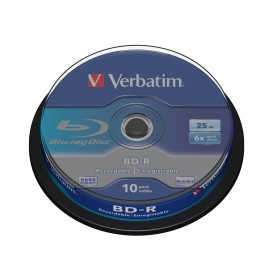 Verbatim BD-R SL 25GB 6 x 10 Pack Spindle BD-R 25GB 43742