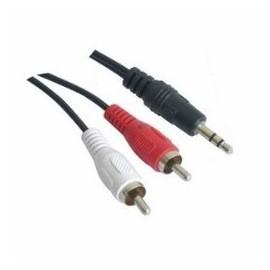 Nanocable Audio Estereo 3.5/M-2xRCA/M 3M