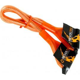 Revoltec cable Floppy UV 48cm Naranja