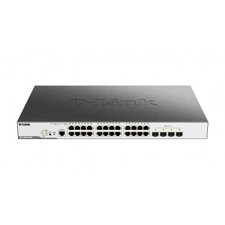 D-Link DGS-3000 Gestionado L2 Gigabit Ethernet (10/100/1000) Energía sobre Ethernet (PoE) 1U Negro
