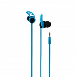 CoolBox AirSport II auriculares para móvil Binaural Dentro de oído Azul Alámbrico COO-AUR-03BL