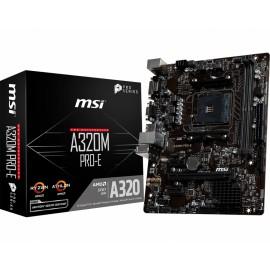 MSI A320M PRO-E Zócalo AM4 AMD A320 Micro ATX 7A36-017R
