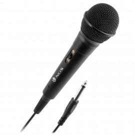 NGS Singer Fire Karaoke microphone Alámbrico Negro SINGERFIRE