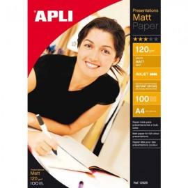 APLI A4 Mate Blanco papel fotográfico 12626