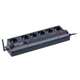 Gembird EG-PMS2-WLAN 6AC outlet(s) 250V 1.8m Negro limitador de tensión