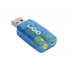 uGo UKD-1085 tarjeta de audio 5.1 canales USB