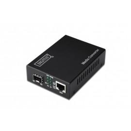 Digitus DN-82130 convertidor de medio 1000 Mbit/s Negro